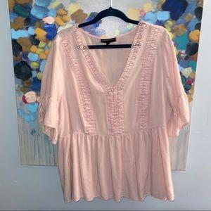 Lane Bryant Light Pink Blouse